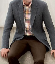 Executive Collection Traditional Fit Wool/Cashmere Sportcoat - Big & Tall