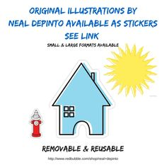 Stickers for all, many sizes available. Great for decor, kids, skateboarders, anyone really! #stickers #crafts #arts #fun #graphics #illustrations    #house #home #realestate #realtor http://www.redbubble.com/shop/neal+depinto+stickers?ref=shop_product_refinement
