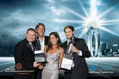 ImageVision Steven White & Mitch Butler With Tech Wildcatters Gabriella Draney at TechTitans 2012 Awards Banquet.