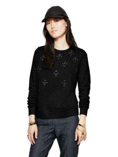 embellished sweatshirt   Kate Spade New York