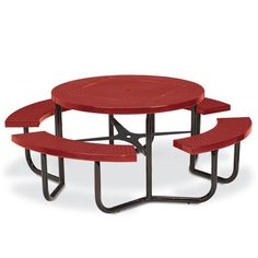 The Best Commercial Round Picnic Tables Images On Pinterest In - Metal picnic table with umbrella