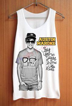AUSTIN MAHONE Shirt Top Tank Top Tee Tunic Singlet by 24hrsTShirt, $15.75