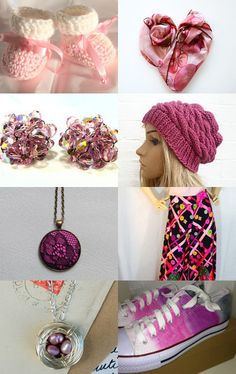 #promotingwomen Pretty in Pink by Lelia Valois on Etsy--Pinned with TreasuryPin.com