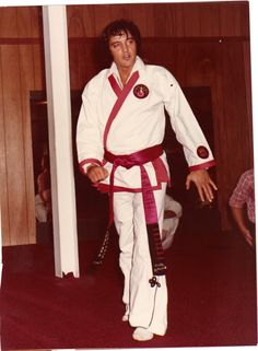 Elvis at Karate practice! C'mon - he was at LEAST a first degree black belt - no argument!
