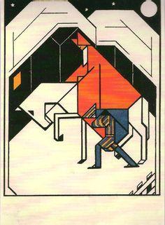 Sint, 1927 van Lou Loeber ( 1894-1983