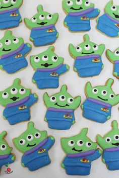 Toy Story Little Green Men Icing Cookies