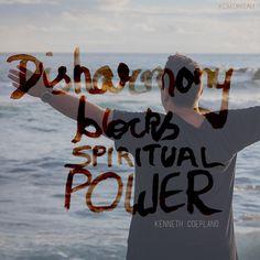 Disharmony blocks spiritual power!