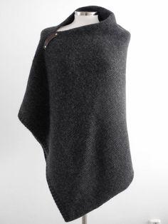 Perfect Poncho SjaalMania Antraciet #poncho #knit #sjaalmania #antraciet