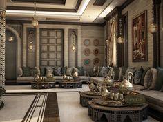 Moroccan Lounge, Moroccan Home Decor, Ethnic Home Decor, Indian Bedroom Design, Modern Bedroom Design, Home Interior Design, Architecture Restaurant, Interior Architecture, Living Room Designs