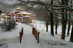 Snowy Lerab Ling South Of France, Buddhism, Places Ive Been, Maine, Outdoor, Outdoors, Outdoor Games, The Great Outdoors