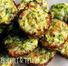 Broccoli Tots 1 head broccoli, cut into equal sized florets 1 cup sharp cheddar cheese, shredded (I used Cabot Vermont Sharp White Cheddar) cup onion, finely chopped cup breadcrumbs 2 eggs salt and pepper Vegetable Recipes, Vegetarian Recipes, Healthy Recipes, Healthy Cooking, Healthy Snacks, Baby Food Recipes, Cooking Recipes, Family Recipes, Muffin Recipes