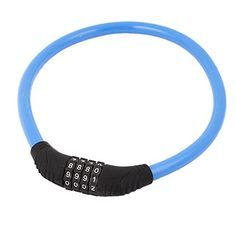 Bike U-Locks - Steel Wire Cable Bike Bicycle 4 Digit Combination Password Lock Blue -- Check out the image by visiting the link.