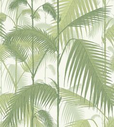 Palm Jungle by Cole & Son. The original Cole & Son Palm Leaves print has been multi layered to create a dense jungle of foliage.