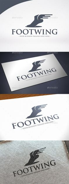 Foot Wings Logo Template — Vector EPS #hermes #bold • Available here → https://graphicriver.net/item/foot-wings-logo-template/12268602?ref=pxcr