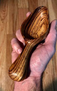 Zebra Wood Sugar Scoop by Paul Flatt