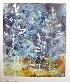gelatin print by linda germain mixed media printmaker