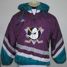 Anaheim Mighty Ducks Disney Apex One NHL Hockey Youth Pullover Jacket Size L/G #ApexOne #AnaheimDucks