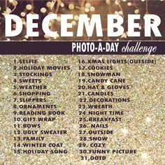 december photo-a-day challenge for instagream