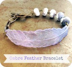 Ombre Feather Bracelet Tutorial from Humblebeads | Humblebeads