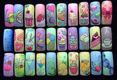 100 идей дизайна ногтей к лету. Летний маникюр 2017. Яркий маникюр, фото