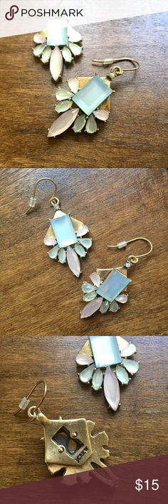 J. Crew pastel gem earrings GORGEOUS little earrings in mixed pastel tones. Only worn a couple times. Excellent condition. J. Crew Jewelry Earrings