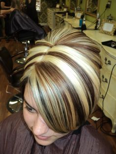 Chocolate Brown Framing the Hairline with Caramel lights and platnium lights