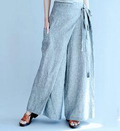 women leisure cotton pants/women loose wide leg by babyangella