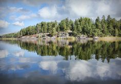 Beautiful Scandinavian landscape - a paradise for anglers. #fishing #scandinavia