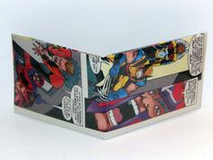 Comic Book Wallet// X-Men// Scarlet Witch, Toad, and Magneto vs Wolverine and Storm, $4.00