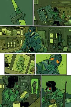 I color comics. Here's page 2 of Ghost Projekt #1, story by Joe Harris and art by Steve Rolston. The color I've chosen for this ... http://deantrippe.tumblr.com/post/379776281/i-color-comics-heres-page-2-of-ghost-projekt-1