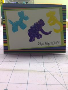 Using Close to My Heart Stamp of the month for February (ballon animals).
