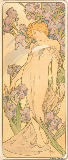 Alphons Mucha   The Flowers : Iris(1898)