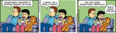 Liz is great :D Childhood Ruined, Garfield And Odie, Jim Davis, Sometimes I Wonder, Non Sequitur, Classic Comics, Calvin And Hobbes, New Theme, Political Cartoons