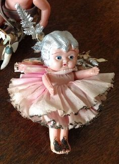 vintage Christmas tree fairy doll