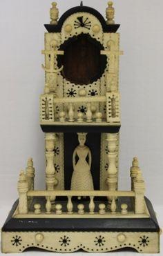 Bone watchtower or pocket watch hutch
