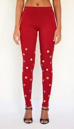 """Mirror Work Leggings"" Cotton & Lycra Leggings- Full Length. Pick Yours at https://www.estrolo.com/product-category/women/leggings/ #MirrorLeggings #WomensFashion #AttractiveFashion #EstroloFashion"