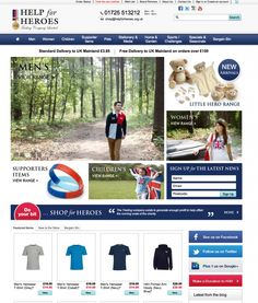 Help for Heroes site by @Webtise Ltd