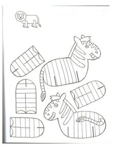 Animals to Print and Assemble Print these beautiful animals for the kids with . Cardboard Animals, Paper Animals, Zoo Animals, Animal Crafts For Kids, Art For Kids, Children Crafts, Paper Toys, Paper Crafts, Sunday School Crafts