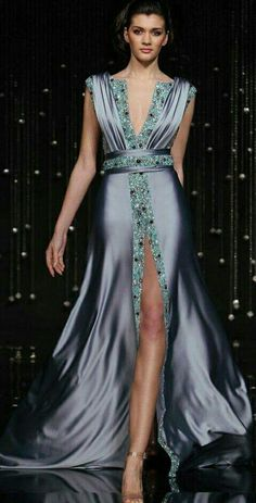 Satin Dresses, Elegant Dresses, Cocktail Outfit, Caftan Dress, Gowns Of Elegance, Beautiful Gowns, Classy Outfits, Dream Dress, Couture Fashion
