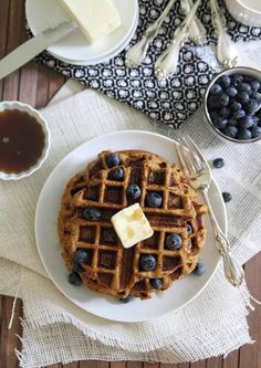 Sweet Potato Waffles | runningtothekitchen.com