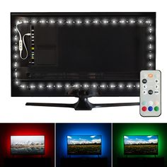 Luminoodle USB Bias Lighting - Large feet, to TV) - LED Backlight Strip, Ambient Home Theater Light, Accent Lighting to Reduce Eye Strain, Improve Contrast - White