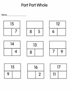 Part-part-whole missing number cards to 20 (SB8266