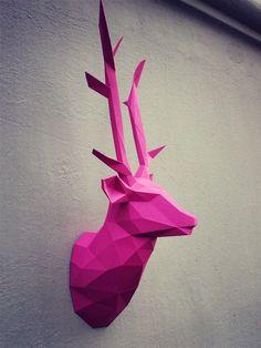 https://www.behance.net/gallery/31483201/Papercraft-deer-head