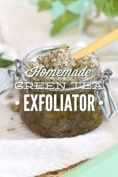 Homemade Green Tea Facial Exfoliator. Who knew a spa experience could be so simple? Four ingredients. Two minutes.