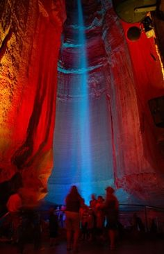 Check out Ruby Falls at Halloween.  #6 scariest haunted attraction in the US. See it in my blog, Adventures for Anyone on Blogger.