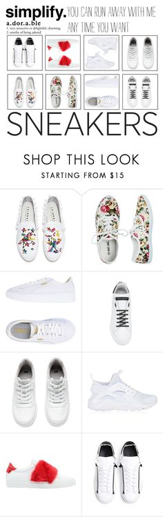 """So Fresh - White Sneakers"" by ritavideira1996 ❤ liked on Polyvore featuring Joshua's, Wet Seal, Puma, Dolce&Gabbana, H&M, NIKE, Givenchy and Y-3"