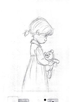 "also known as ""Ollie"" Johnston (October 1912 – April was an American motion picture animator and one of Disney& Nine Old Men. This is a sketch for a scene of the orphan girl Penny in the movie ""The Rescuers"" Disney Sketches, Disney Drawings, Cartoon Drawings, Walt Disney Animation Studios, Character Design Animation, Character Art, Character Design References, Disney Kunst, Disney Art"