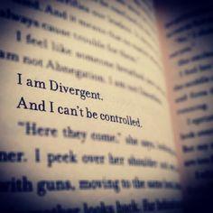 Soy divergente y no puedo ser controlada
