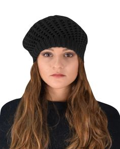 47.99$  Buy here - http://vipwd.justgood.pw/vig/item.php?t=54wvfj55822 - Craze Winter Warm Double Layer Crochet Knit Beret Beanie Slouchy Hat