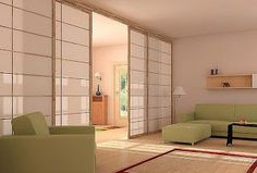 Japanese sliding doors are popular type of sliding doors that provides unique design and oriental look. Check for more amazing designs of Japanese sliding doors Sliding Door Room Dividers, Sliding Screen Doors, Sliding Wall, Room Divider Doors, Closet Doors, Sliding Panels, Room Doors, Japanese Sliding Doors, Japanese Door